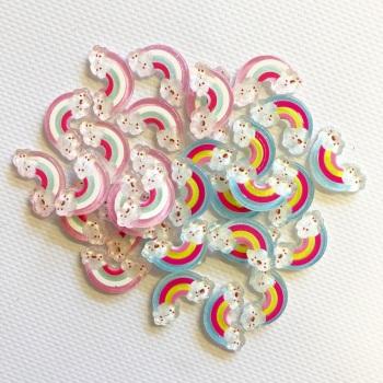 Kawaii Sparkle Mini Rainbows