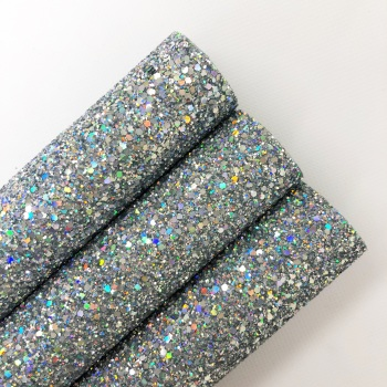 Rainbow Silver ~ Chunky Glitter