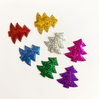 Foil Christmas Tress ~ Packs of 7