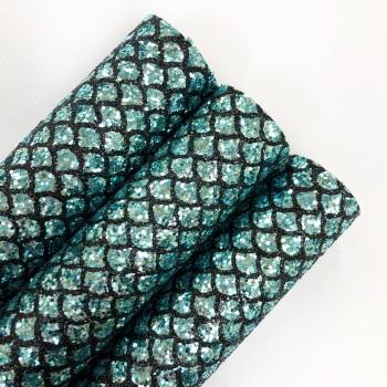 Mermaid Tail Aqua ~ Chunky Glitter