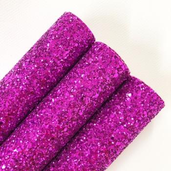 Fuchsia ~ Chunky Glitter