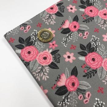 Pink & Grey Floral ~ FBF