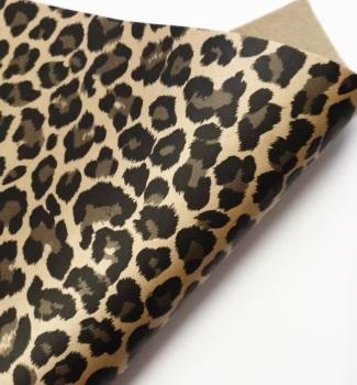 Gold Leopard Metallic Matte Felt