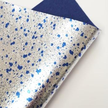 Metallic Blue Splatter Felt