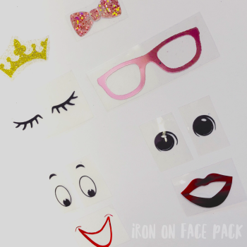 Face Pack Iron on Transfers