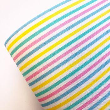Rainbow Candy Stripe Fabric Felt