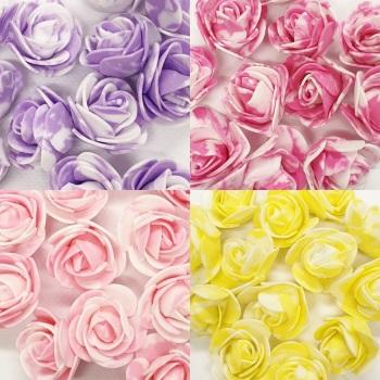 Tie Dye Foam Roses