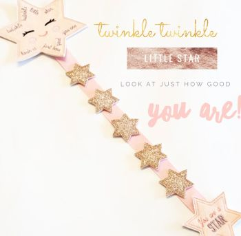 Create Your Own Pink and Rose Gold Star Reward Chart