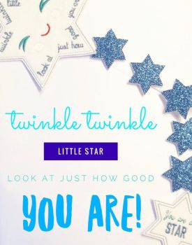 Create Your Own White and Blue Star Reward Chart