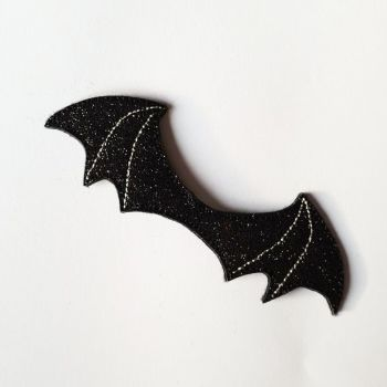 Glitter Bat Wing Bow Centres