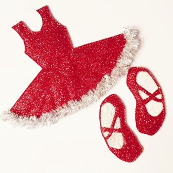 Create your own Christmas Dress Bow Holder