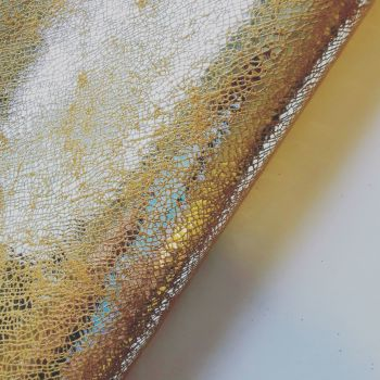 Gold Mesh Leatherette