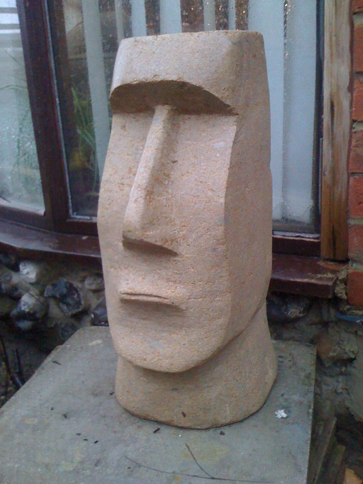 Easter island head finished