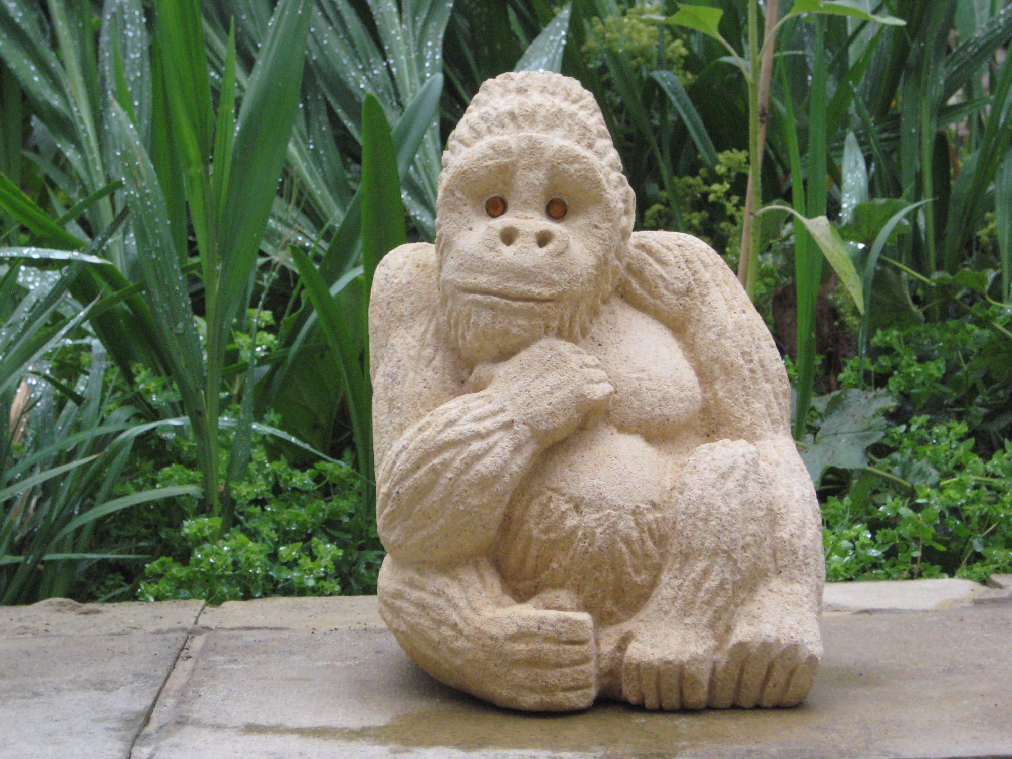 Monkey carved from stone