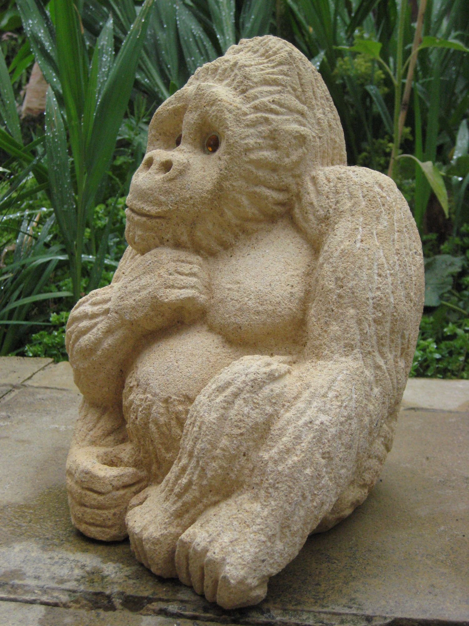 Monkey Doo stone left side