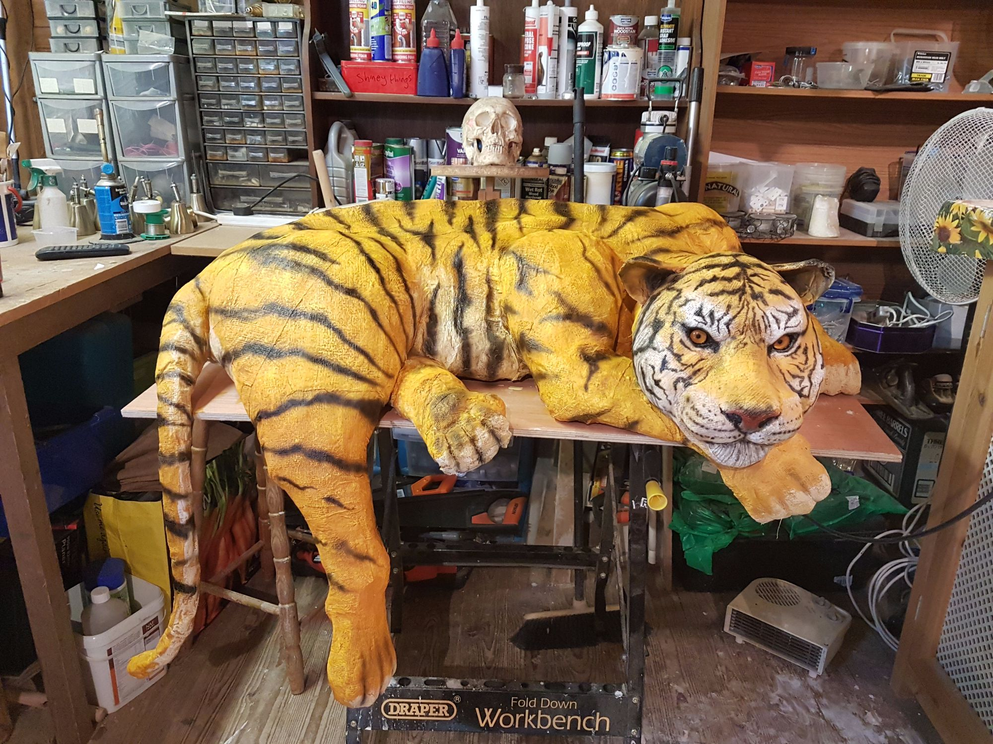 Tiger first painting finished