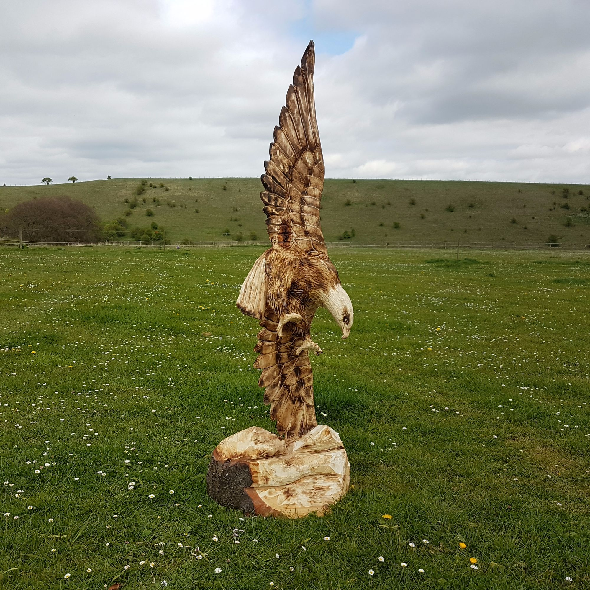 Eagle Chainsaw sculpture