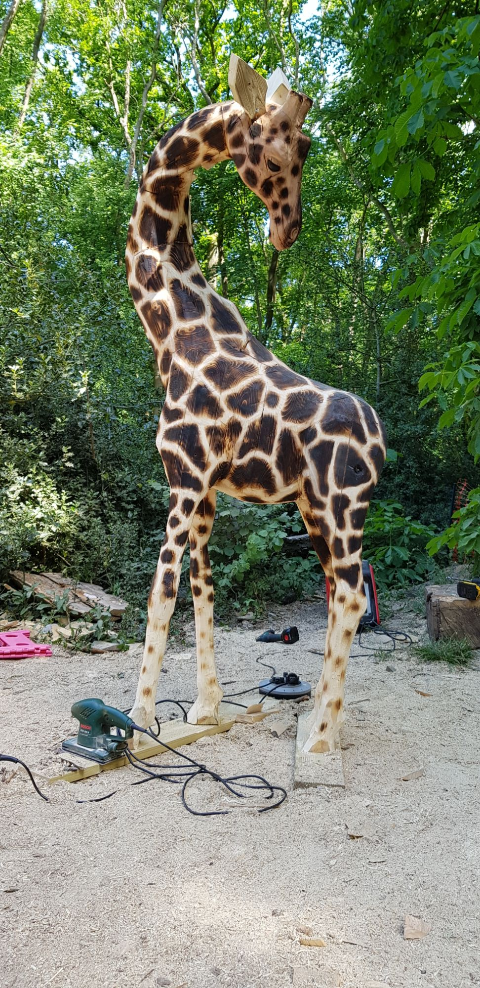 Chainsaw Laminated Giraffe