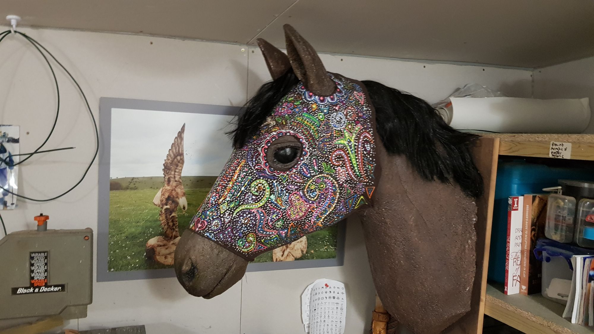 Polystyrene Horse head
