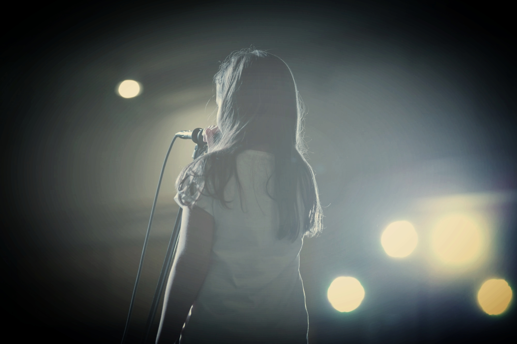 Girl on stage