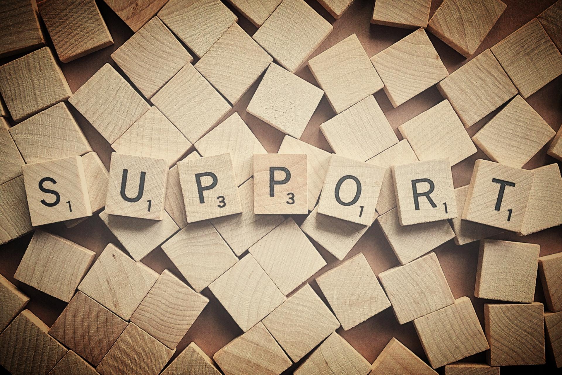scrabble letter support