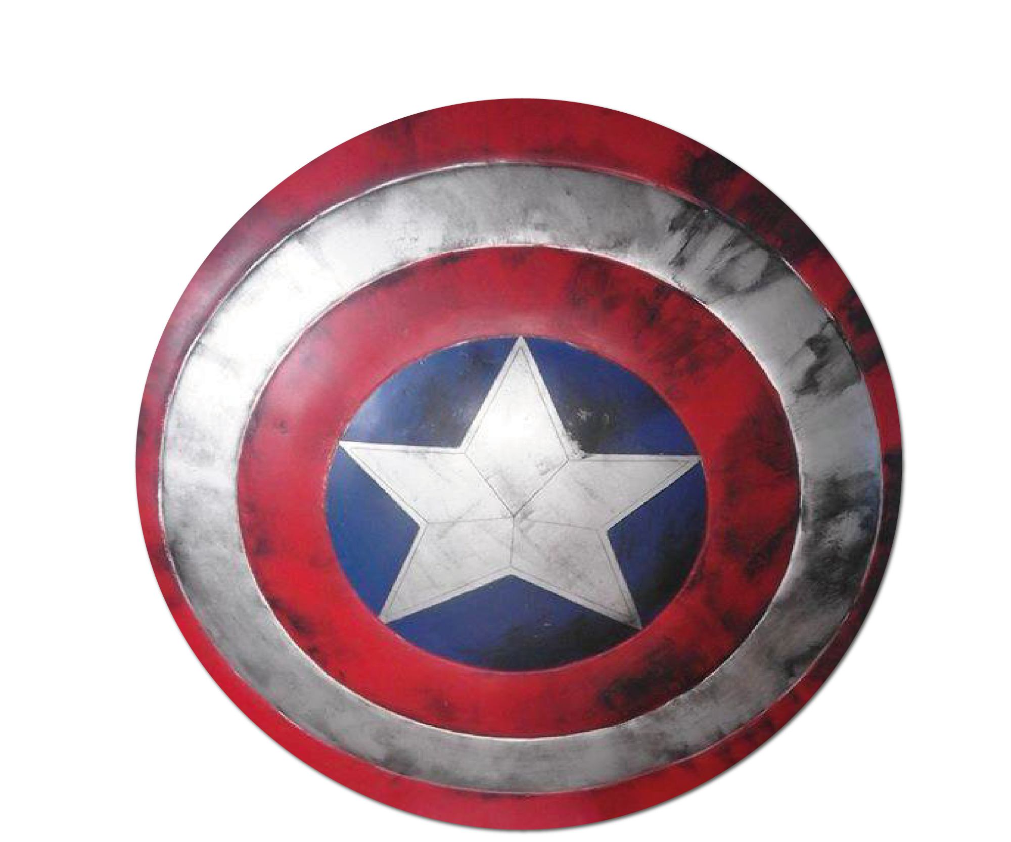 Battle Damage Captain America Shield