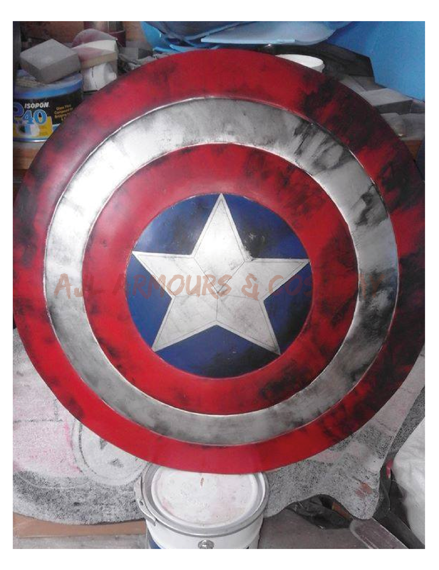 Battle Damaged Captain America Shield Prop