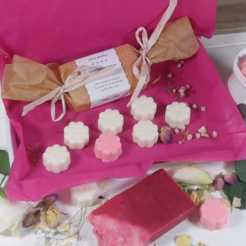 Shea Butter Soap with Mixed Aroma Wax Melts