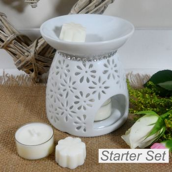 Daisy Burner with silver trim Starter Set