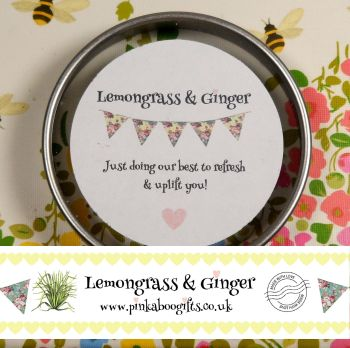 Lemongrass and Ginger Aroma Candle