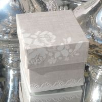 <!-- 014-->(10 off) Pearl Grey Shabby Chic Favour Box (D)