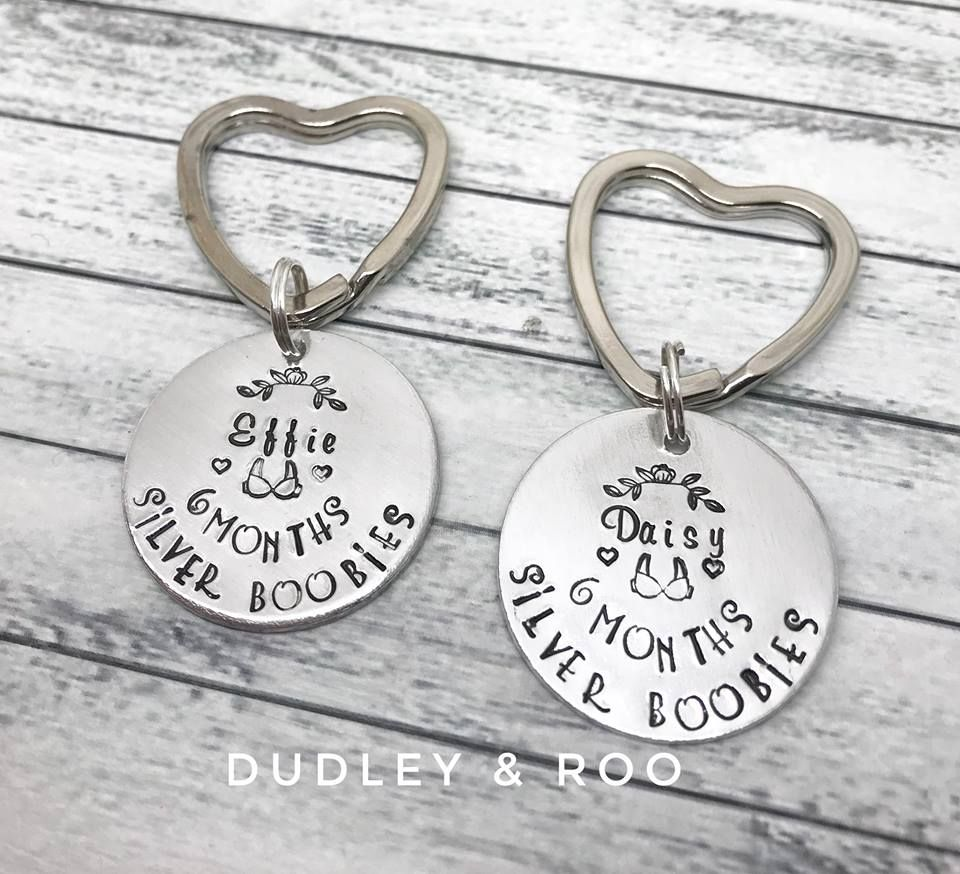 Silver Boobies Commemorative Keyring