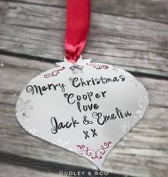 Christmas Message Bauble