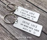 Keep/Drive/Ride Safe Keyring