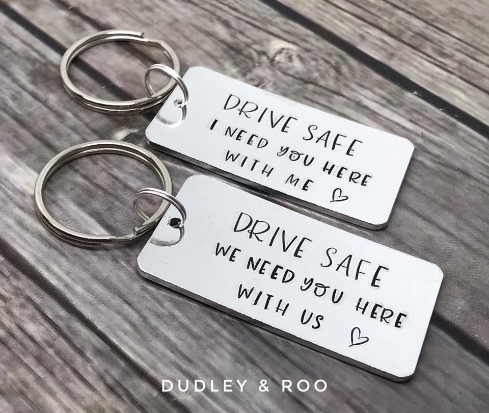 Keep/Drive/Ride Safe Keyring