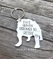 This Human Belongs To...Keyring (Dog Breed)