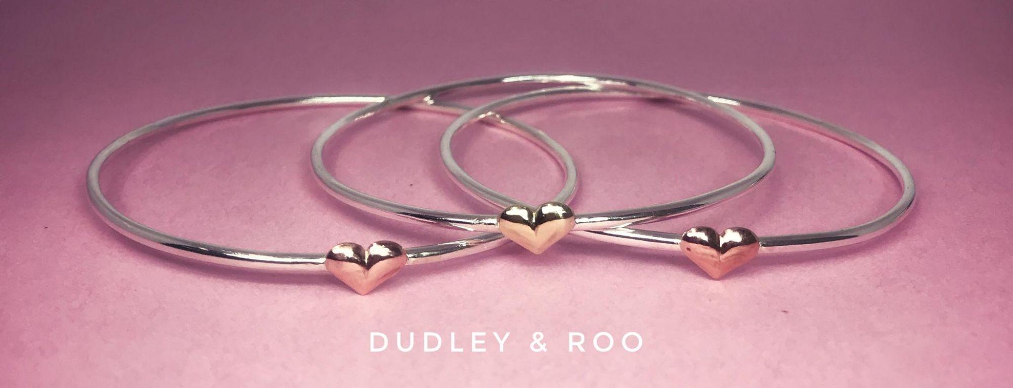 silver heart bangles