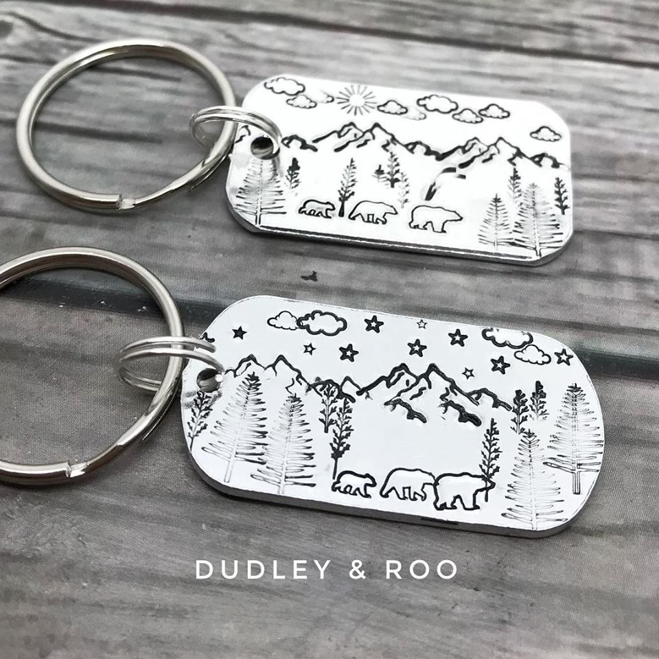 Bear Family Keyring