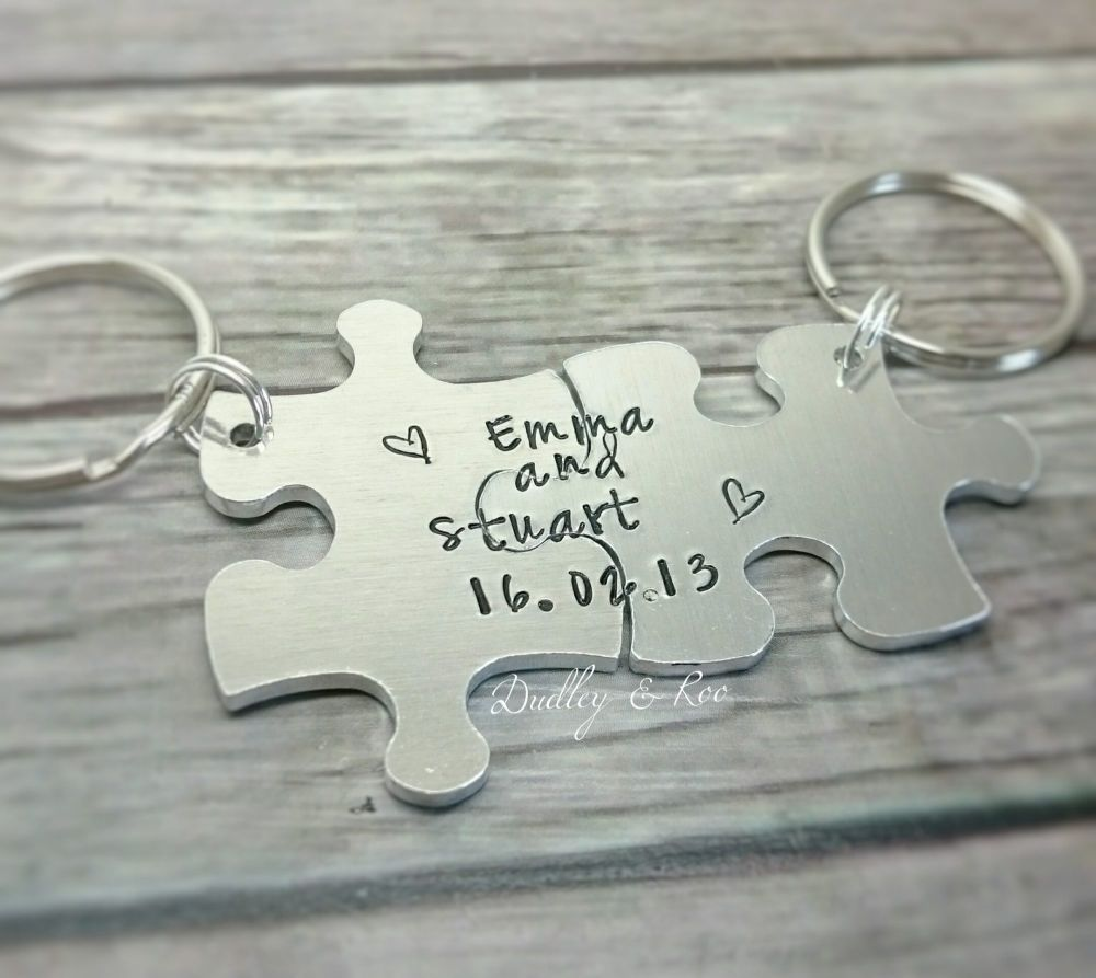 Jigsaw/Puzzle Piece Keyrings