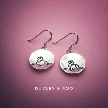 Sterling Silver Drop Disc Earrings