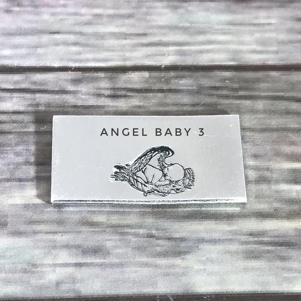 Angel baby/baby with wings metal design stamp
