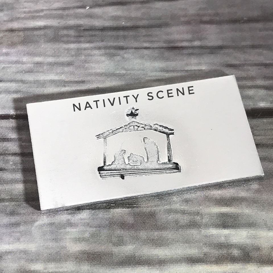 Nativity scene metal design stamp