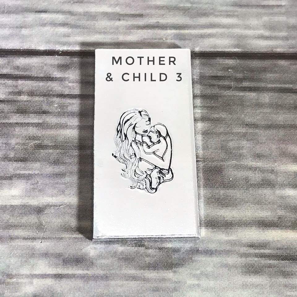 Mother & child/baby metal design stamp
