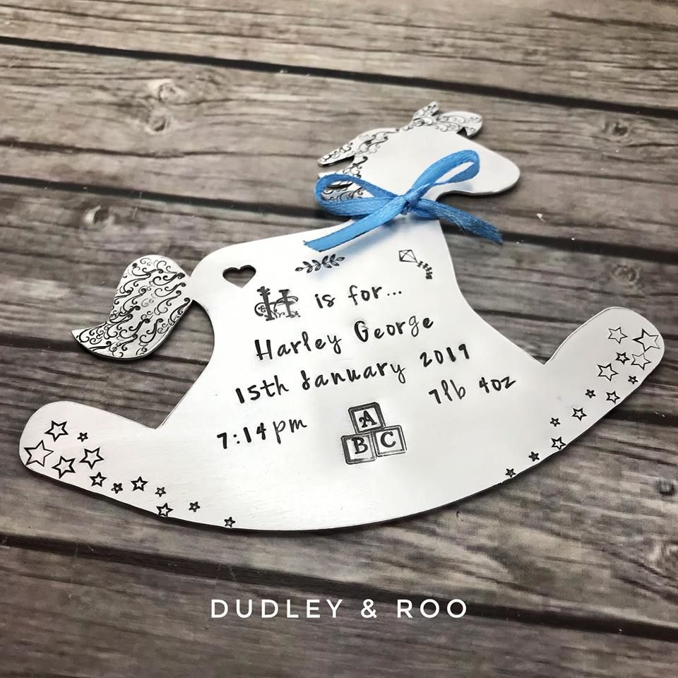 New Baby Rocking Horse Keepsake