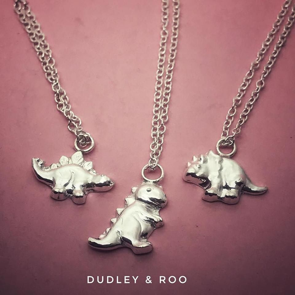 Silver Dinosaur Necklace | Gorgeousaurus Collection