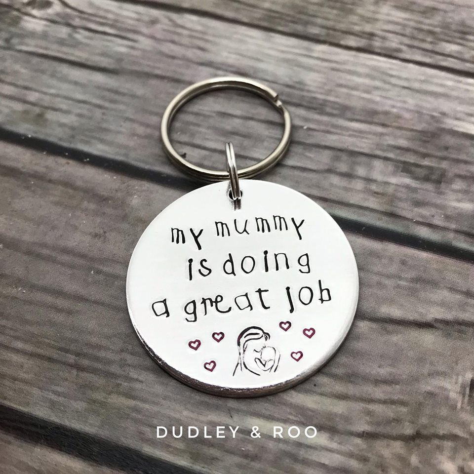 Mummy's Doing Great Keyring