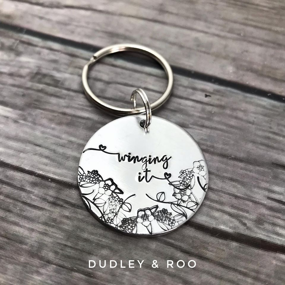 'Winging It' Keyring