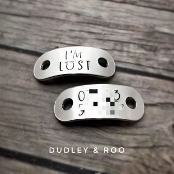 Child's I'm Lost Trainer Tags