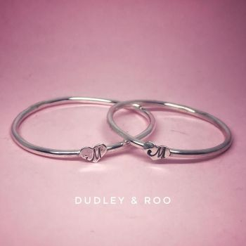 Child's Silver Heart Bangle