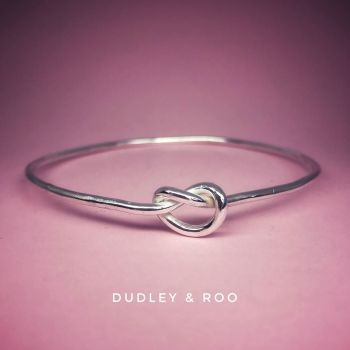 Silver Friendship/Love Knot Bangle